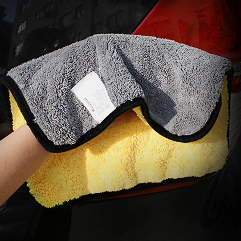 30x30/45/60CM Car Wash Microfiber Towel Car Cleaning Drying Cloth Hemming Car Care Cloth Detailing Car Wash Towel For Car