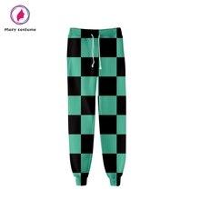 Demon Slayer: Kimetsu no Yaiba мужские спортивные брюки высокого качества спортивные лосины модные популярные удобные повседневные брюки