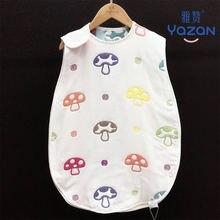 Спальный мешок для новорожденных 6 слоев чистый хлопок спальный