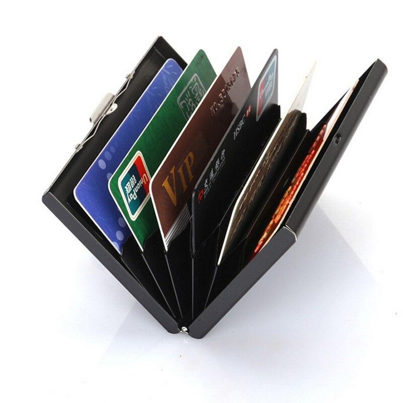 1 шт., чехол-держатель из нержавеющей стали для кредитных карт, тонкий, анти-защитный, для путешествий, ID, визитница, для женщин, Rfid, кошелек