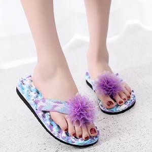 Beach Slipper Sandals Thongs Flip-Flops Women Shoes Floral Summer Boho for Outdoor Bathroom
