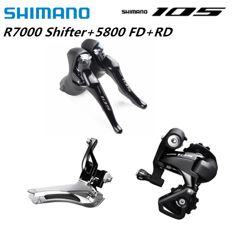 <font><b>Shimano</b></font> <font><b>105</b></font> R7000 5800 Road Bike Bicycle Groupset 2x11 Speed ST-R7000 FD-5800 Braze On 34.9mm RD-5800 GS 22s Mini Groupset image