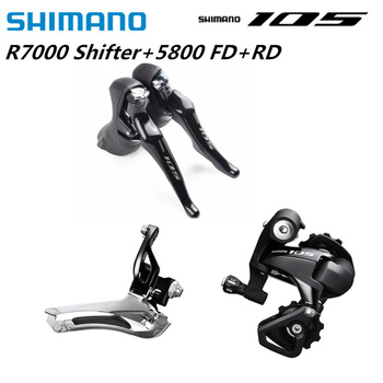 цена на Shimano 105 R7000 5800 Road Bike Bicycle Groupset 2x11 Speed ST-R7000 FD-5800 Braze On 34.9mm  RD-5800 GS  22s Mini Groupset