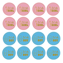 24/48pcs Team Boy Team Girl Stickers Decoration Baby Shower Supply Its Boy or Girl Vote Gift Bag Sticker for Gender Reveal Party