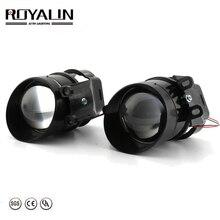 ROYALIN для Camry Противотуманные фары объектив Bi xenon H11 D2S галогенные проекторы для Toyota Corolla Peugeot Citroen Prius Автомобильная противотуманная фара ретро