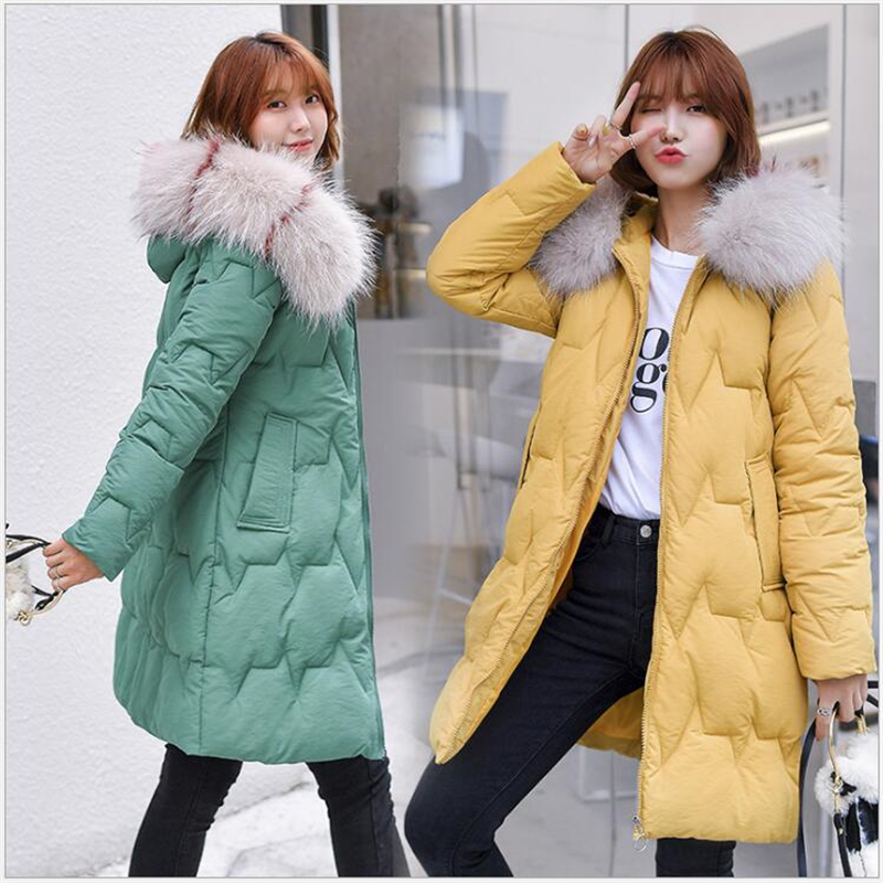 women winter jacket hooded warm coat cotton padded jacket female long   parka   Outwear wadded jaqueta feminina women   parkas   R276