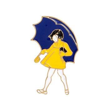 Romántico día lluvioso de dibujos animados paraguas y plantas en maceta de...