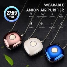 Portátil purificador de aire USB Personal portátil collar ionizador negativo anión aire ambientador de aire de familia medio ambiente 1Pc