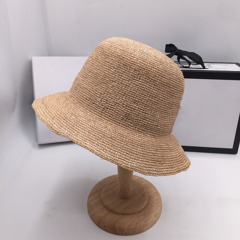 Summer Crochet Lafite Grass Short Brim Hat Fashion Fisherman Basin Web Celebrity With Straw Hat Temperament Rural Travel