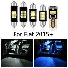 6 Pcs רכב לבן פנים LED אור נורות חבילה עבור פיאט טיפו 356 357 (2015 +) מפת כיפת רישיון מנורת אור אביזרים