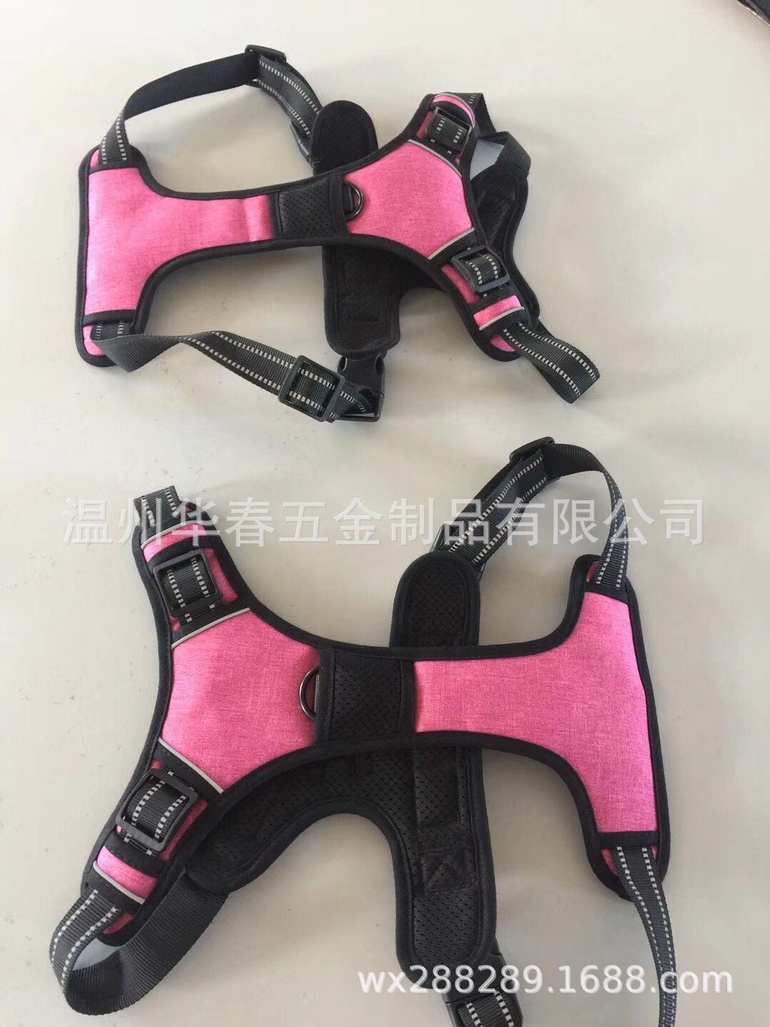 Pet Supplies Pet Double Stacked Saddle Chest Suspender Strap New Style Dog Reflective Gallus Proof Punch