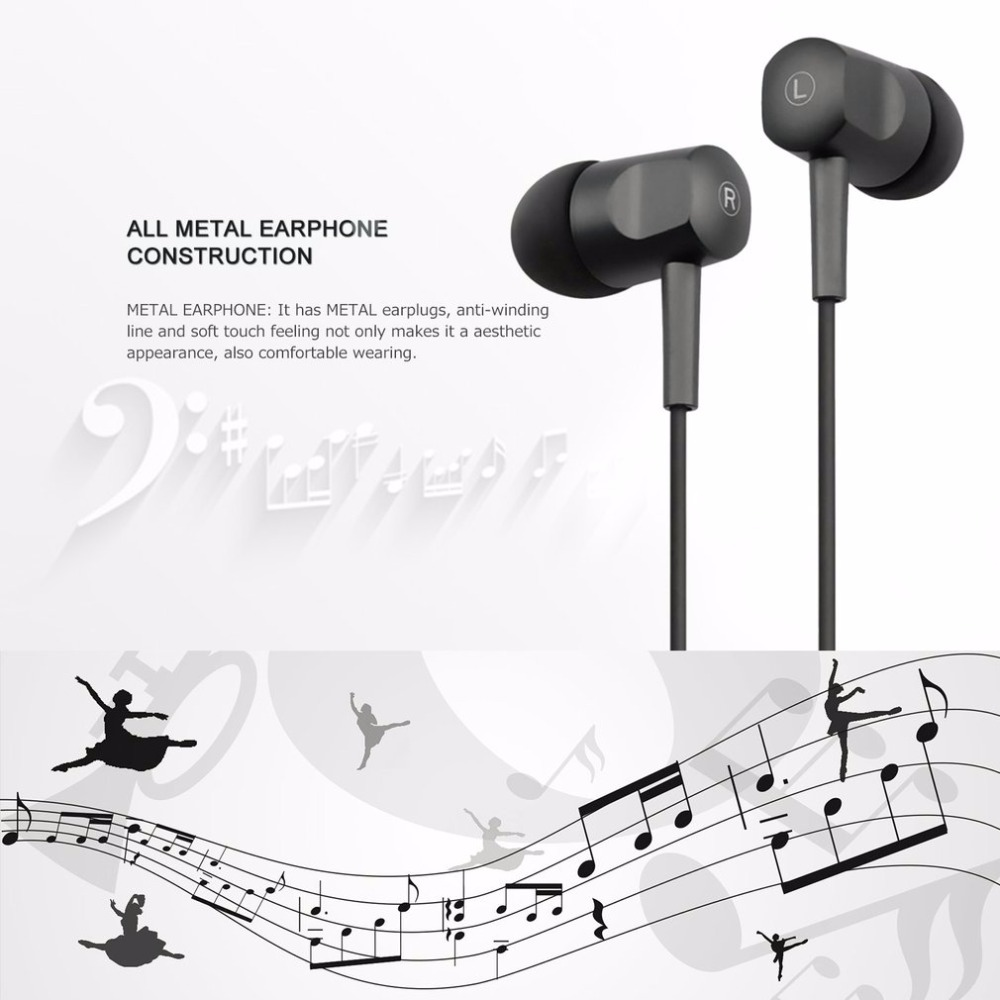 Stereo In-ear Earbuds Earphones Microphone Mic Earphone Volume Control Universal Headset for IPhone Samsung fone de ouvido