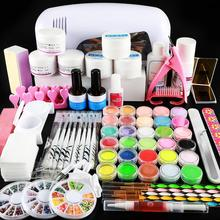 9W Lamp Dryer Manicure Set Acrylic Powder For Nail Art Brushes Kit Tools All