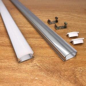 Image 3 - 10 20PCS DHL 1m LED strip aluminum profile for 5050 5730 LED hard bar light led bar aluminum channel housing withcover end cover