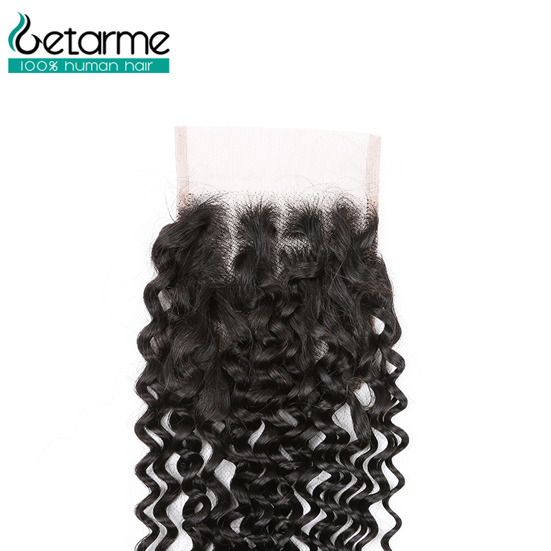 Image 5 - Getarme Brazilian Kinky Curly Human Hair Bundles With Closure Human Hair Weave 3 Bundles With 4x4 Lace Closure Remy Hair Bundles-in 3/4 Bundles with Closure from Hair Extensions & Wigs