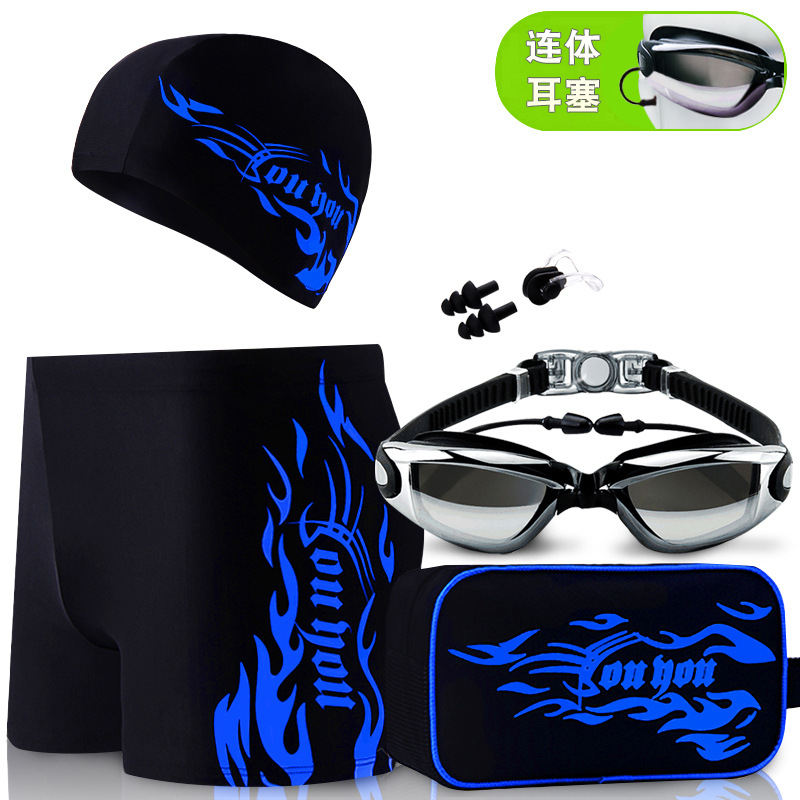 2019 Men Quick-Dry Swimming Trunks Boxer Industry Sports Swimming Trunks Men's Adult Large Size Slim Fit Sun Yang Celebrity Styl