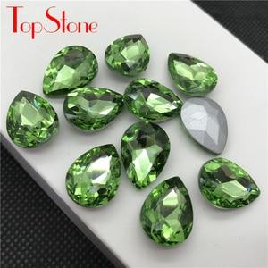 Image 5 - TopStone 30pcs Biggest Size 30x40mm Teardrop Crystal Fancy Stone Pear Drop Bling Crystal Rhinestone For Jewelry Making