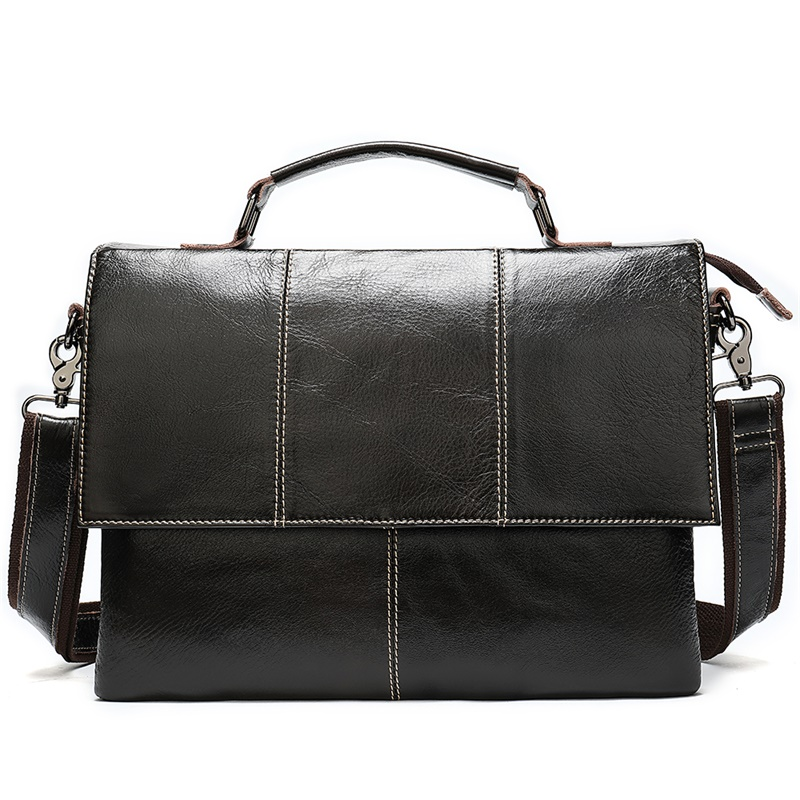 Bags Briefcase Handbag Messenger-Bags Laptop Retro Men's Business 7909