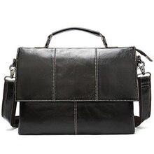 Porte documents en cuir véritable pour hommes, sac de bureau housses dordinateur en cuir, sac à bandoulière/messager mallette daffaires