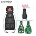 DJBFANDEA 4 кнопки 315 МГц полный дистанционный ключ для Mercedes-Benz W169 W245 W203 W208 W209 W204 W210 W211 2001-2010 IYZ3312
