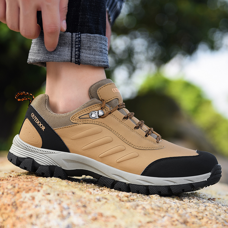 Shoes Waterproof Profession Climbing Outdoor Men Hiking Anti-Skid 39--48 Plus-Size High-Quality