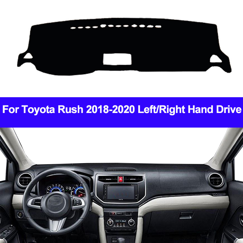 Car Auto Dashboard Cover For Toyota Rush 2018 2019 2020 Dash Mat Carpet Cape SunShade Dashmat Pad Cushion 2 Layers Anti-Sun