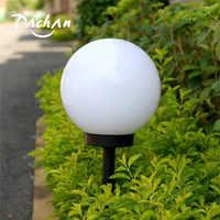 Luz impermeável exterior conduzida solar em forma de bola, bola esfera globo estaca luz redonda branco ao ar livre festa decoração da barra quintal capina