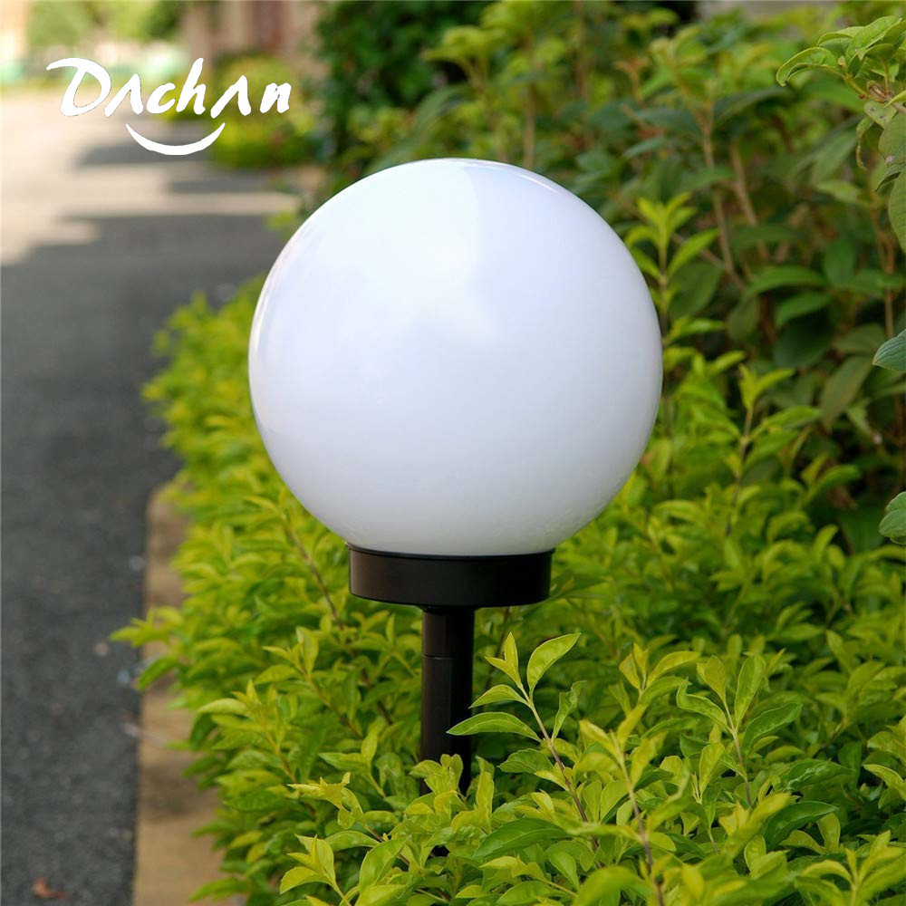Solar LED Outdoor Waterproof Ball-Shaped Light,Ball Sphere Globe Stake Light  Round White Outdoor Party  Weeding Yard Bar Decor