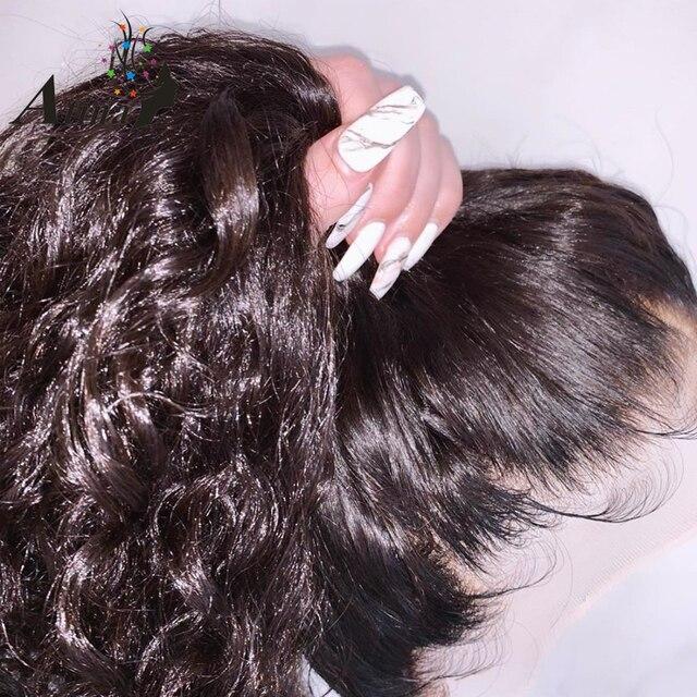Peluca Frontal rizada 360 de encaje prearrancada con pelo de bebé HD 250 densidad pelucas de cabello humano Frontal de encaje virgen brasileño para mujeres negras