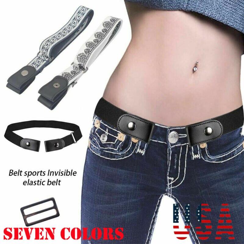 Men Women Buckle-free Elastic Adjustable Invisible Belt For Jean Pants Dress Belts
