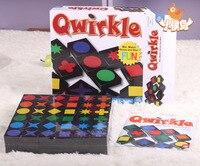 Qwirkle 믹스 경기 점수와 승리! 어린이 교육 완구 체스 데스크탑 게임  조립 나무 장난감 Qwirkle 성인 정보 게임
