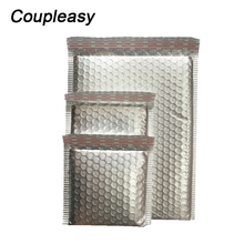 100Pcs Matte Silver Plastic Bubble Bag Self Seal Adhesive  Bubble Mailer Postal Shipping Mailing Bag Courier Packaging Bags
