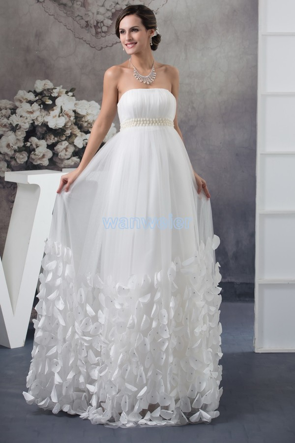 Free Shipping New Arrival Product 2016 Design Cl3458 Custom Size Bridal Gown Pearls Plus Size White Chiffon Bridesmaid Dresses