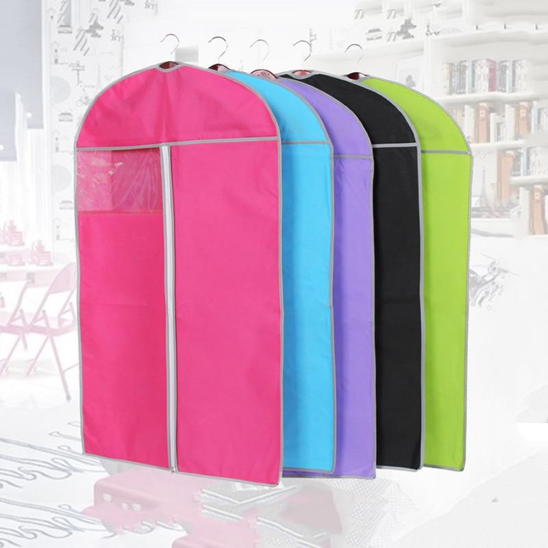 Colorful Clothes Dustproof Cover Hanging Garment Dust Cover Suit Coat Protective Organizer Dust-proof Zipper Closet Bag Dust Cov