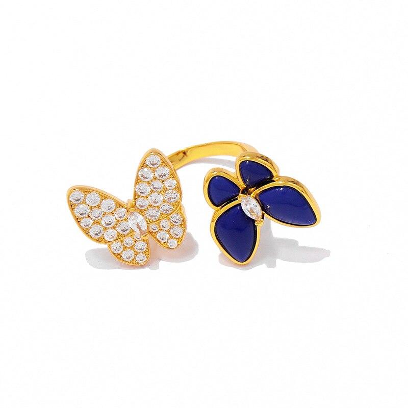 Bague femme chaude bijoux belle papillon mode personnalité visage lisse pour envoyer des cadeaux pour les amoureux 2019 nouveau - 2