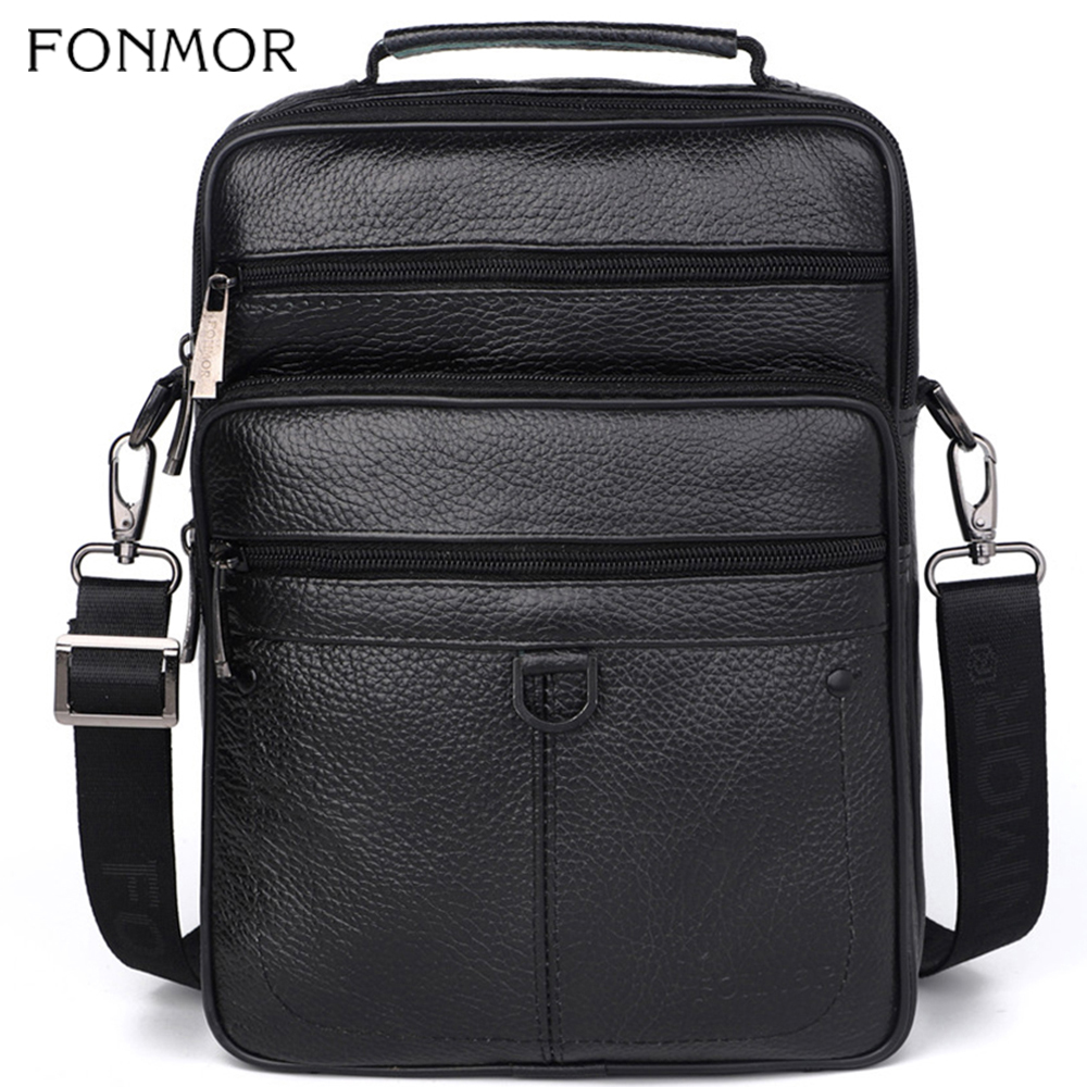 Fonmor Genuine Leather Briefcase Male Tote Laptop Cowhide Bag For Men Messenger-Bags Men's Crossbody Business High-Quality Bag