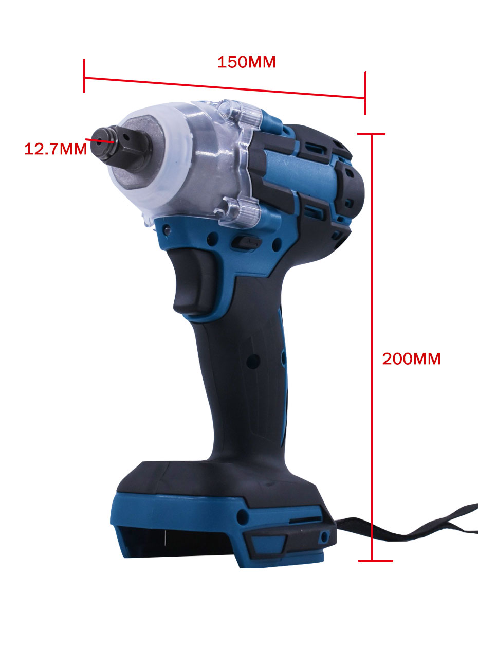 home improvement : 18V 520Nm Electric Rechargeable Brushless Impact Wrench Cordless 1 2 Socket Wrench Power Tool For Makita Battery DTW285Z