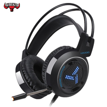 Gaming Headset  LED Music Audio BigWith Mic for PC Computer 7.1 Channel 3.5mm Jack Stereo Optional