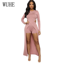 WUHE Two Pieces Sets Fashion High Stretch Sexy Party Dress Long Sleeve O-neck Elegant Maxi Vintage Hollow Out Club Dresses