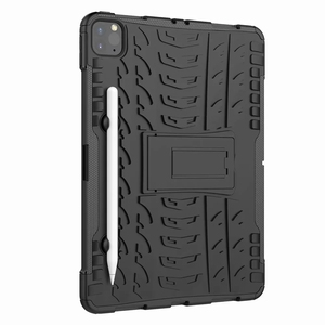 Image 4 - Defender Stand TPU PC Shockproof Protective Silicone Plastic Armor Case For iPad Cover Mini Air 1 2 3 4 5 6 Pro 9.7 10.5 11 10.2