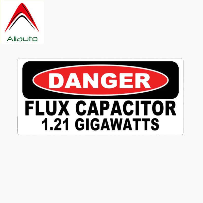 Pegatina reflectante divertida Aliauto, condensador de flujo de Danger 1,21 Gigawatts, accesorios de PVC, Nissan Suzuki para VW pegatina, 15cm * 7cm