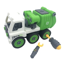Disassemble Truck Toy City Sanitation Vehicle Nut Combination Assembly Toys Early Education Puzzle Kids Gift