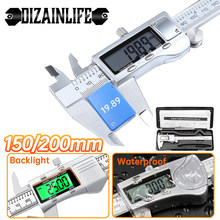 DIZAINLIFE 0-150/200mm Electronic Digital Vernier Caliper Precision Stainless Steel/Plastic Metal Micrometer Ruler Measure Tools