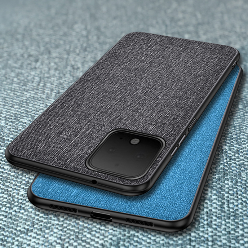 For Google Pixel 4 XL Case Fabric Cloth Hard PC Silicone Frame Shockproof Back Cover Case For Google Pixel 3A XL 4 Fundas Coques