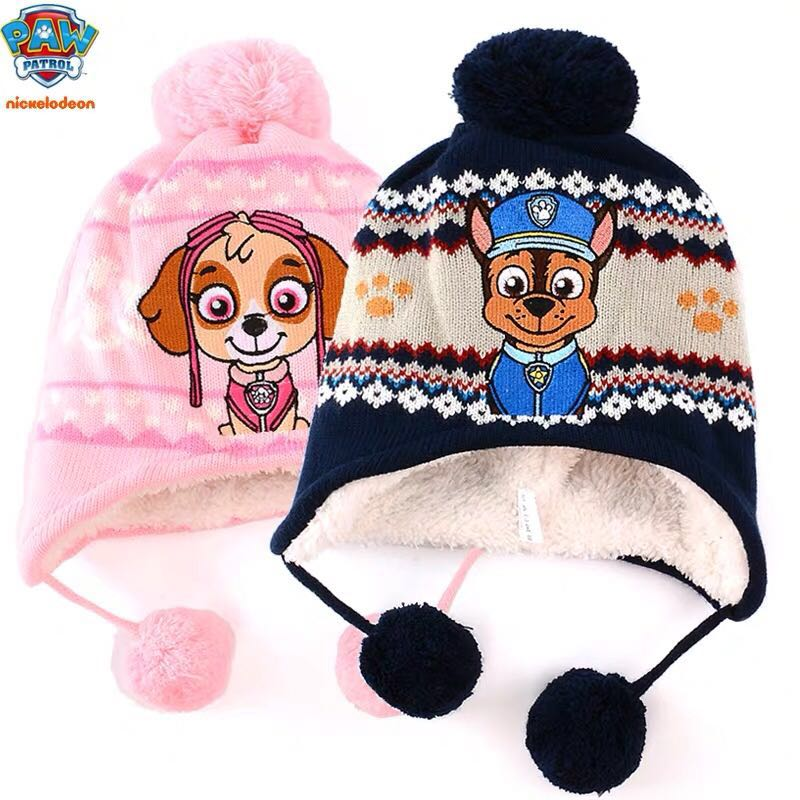 High Quality Hot Genuine PAW PATROL 2019 New Children's Cap Toy Puppy Patrol Figure Kis Winter Hats Toy Birthday Christmas Gift