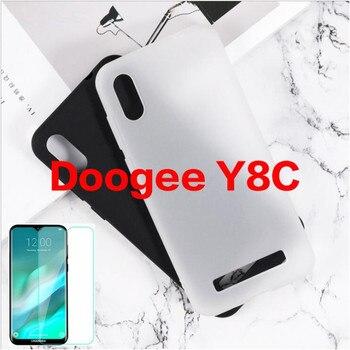 Перейти на Алиэкспресс и купить Для Doogee Y8C Чехол Для Doogee Y8C чехол + Защитная пленка для экрана из закаленного стекла Для Doogee Y8C