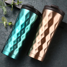 New Fashion Thermos Cup Stainless Steel Diamond Design Vacuum Flasks Insulation Water Bottle Thermoses 500ML