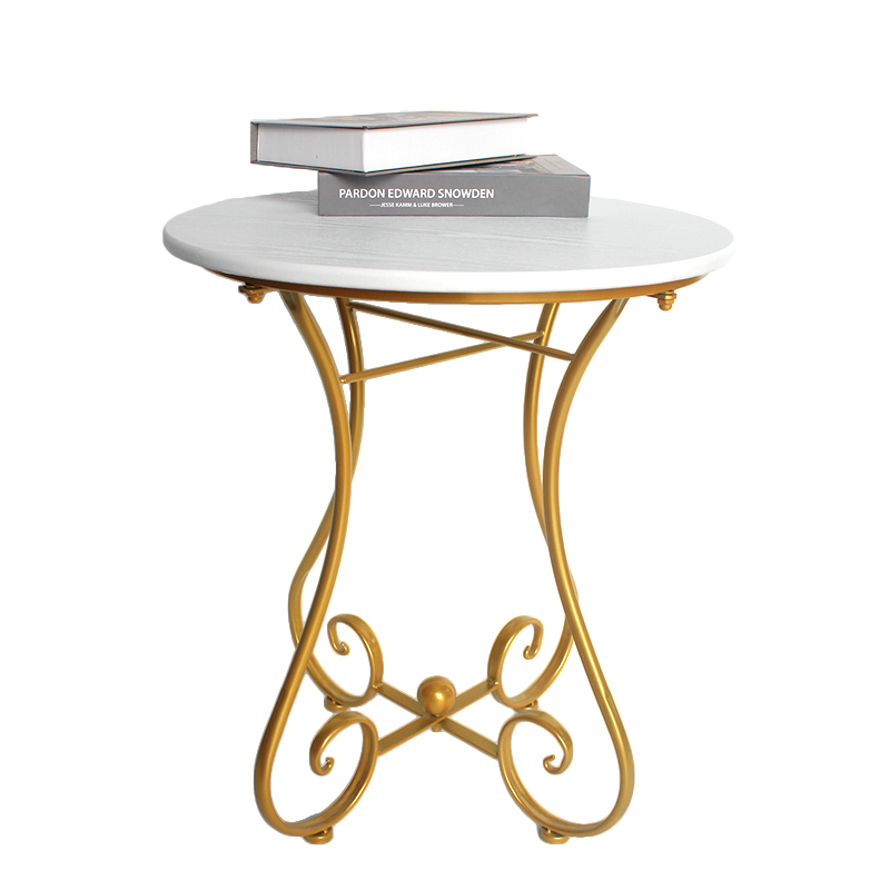 European Wrought Iron Small Circle Table Sofa Edge Several Modern Concise Leisure Time Balcony Ins Small Tea Table Coffee Form