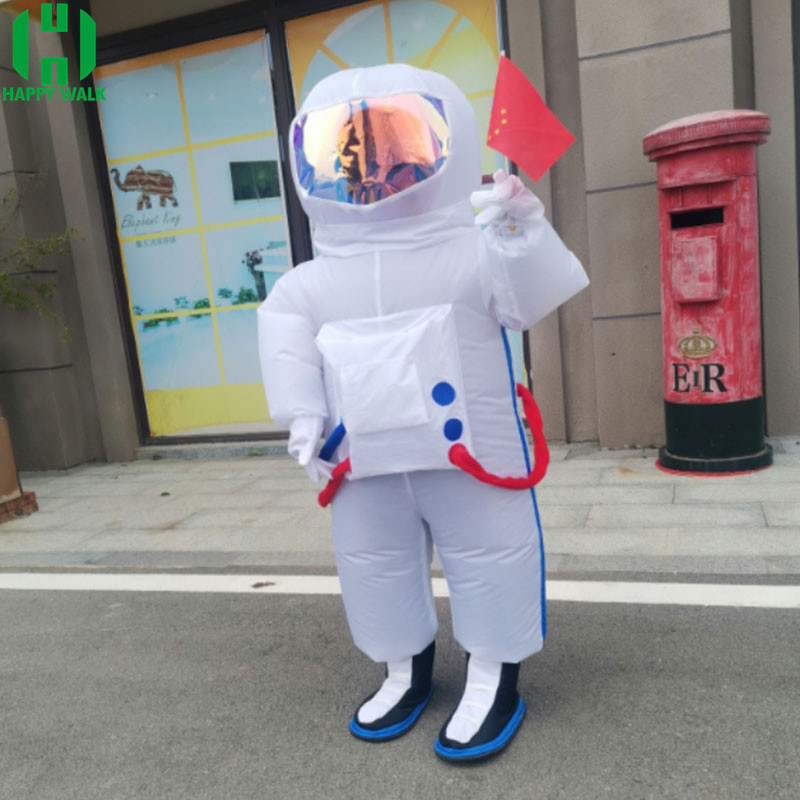 NEW Inflatable White Spaceman Costumes Halloween Christmas Cosplay Costume Astronaut Party Dress For Adult Kid Grow Up Suit