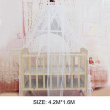 Summer Baby Bedding Crib Mosquito Net Portable Size Round Toddler Baby Bed Mosquito Mesh Hung Dome Curtain Net(China)